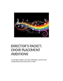 Director's Packet: Choir Placement Auditions