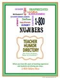 Teacher Humor: Directory of Hotline Numbers for Teachers