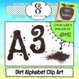 Dirt Alphabet and Number Clip Art