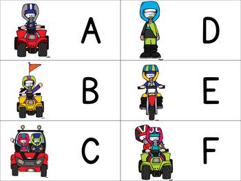 Dirt Bike, ATV, and UTV Letter Cards