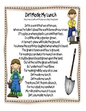 Dirt Made My Lunch Poem & Worksheet