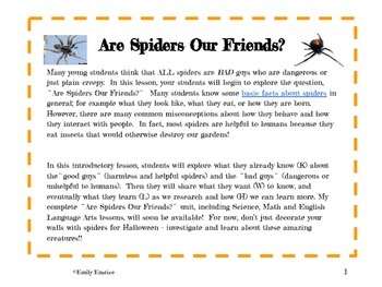 Are Spiders Our Friends?