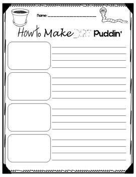 Dirt Puddin' Writing Paper FREEBIE