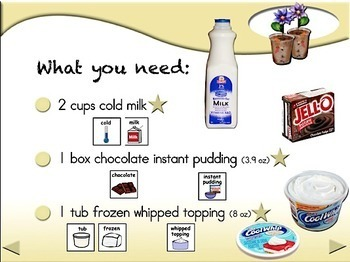 Dirt Pudding - Animated Step-by-Step Recipe SymbolStix