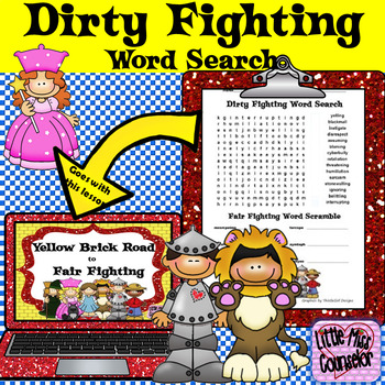 Dirty Fighting Word Search and Fair Fighting Word Scramble