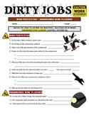 Dirty Jobs : Abandoned Mine Plugger (career video worksheet)
