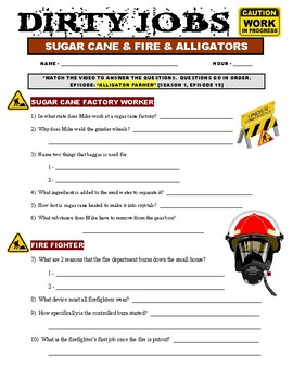 Dirty Jobs : Alligator Farmer (video worksheet)