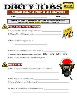 Dirty Jobs : Alligator Farmer (video worksheet)