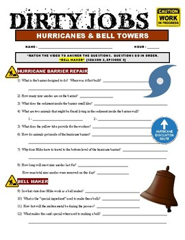 Dirty Jobs : Bell Maker (video worksheet)