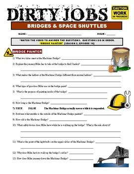 Dirty Jobs : Bridge Painter (video worksheet)