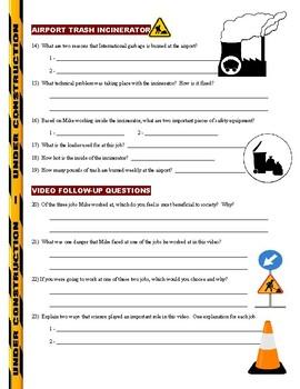 Dirty Jobs : Cave Digger (career video worksheet)