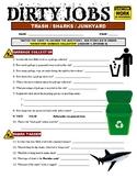 Dirty Jobs : Garbage Collector (career video worksheet)