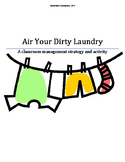 Dirty Laundry - A classroom management tool and activity