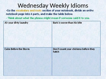 Dis Daily ppt with weekly idioms