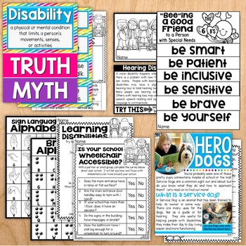 Disability Awareness  - Inclusion Classrooms and Professional Development