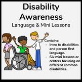 Disability Awareness Language, Lessons, Activities