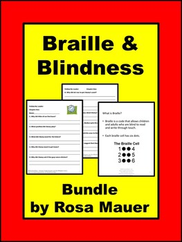 Disability Awareness Products about Braille and Blindness Bundle