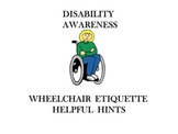 Disability Awareness Wheelchair Etiquette Helpful Hints