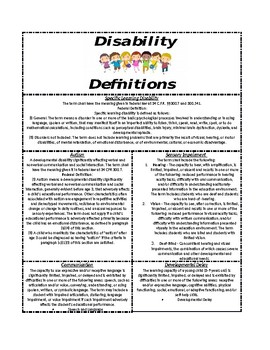 Disability Definitions