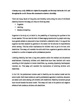 Disability Essay