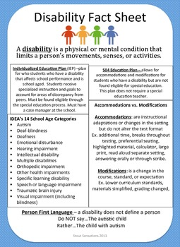 Disability Fact Sheet