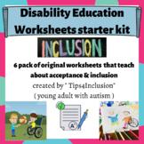 Disability Inclusion worksheet starter kit