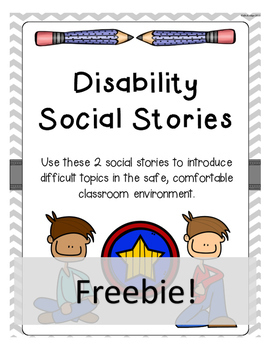 Intermeidate and Middle School Disability Social Stories FREEBIE!