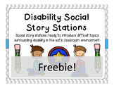 Disability Social Story Stations FREEBIE!