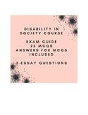 Disability course exam guide