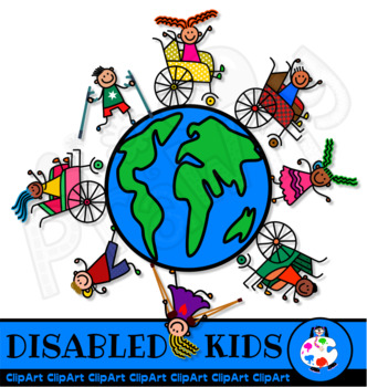 Disabled Kids ClipArt