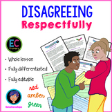 Disagreeing respectfully and avoiding conflict