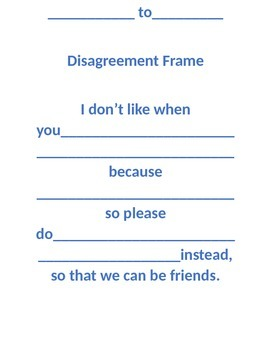 Disagreement Frame for Classroom Communication