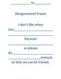 Disagreement Frame for Classroom Communication