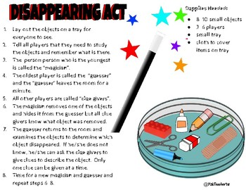 Disappearing Act Memory Game