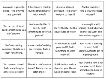 Disaster Cards