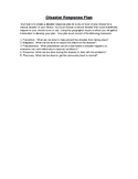 Disaster Emergency Response Plan
