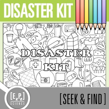 Disaster Kit Seek and Find Science Doodle Page