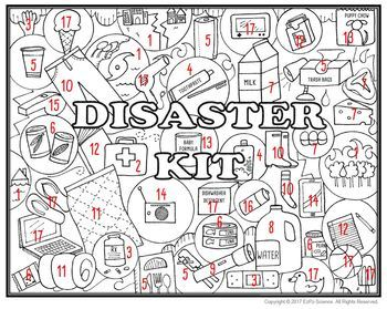 Natural Disaster Kit Seek and Find Science Doodle Page