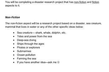 Disaster Research Project