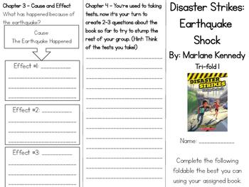 Disaster Strikes: Earthquake Shock Comprehension Tri-fold
