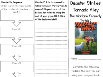 Disaster Strikes: Tornado Alley Comprehension Tri-fold