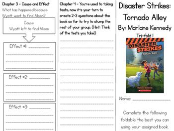 Disaster Strikes: Tornado Alley Comprehension Tri-fold