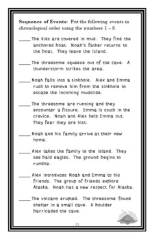 Disaster Strikes: Volcano Blast (Marlane Kennedy) Novel Study / Comprehension