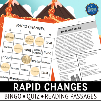 Rapid Changes Vocabulary Bingo