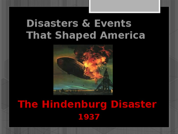 Disasters & Events That Shaped America - The Hindenberg Di