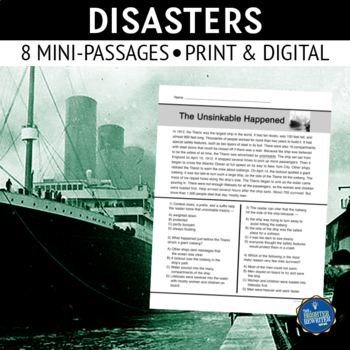 Disasters Short Reading Passages