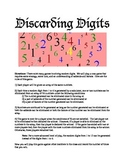 Discarding Digits-A Math Probability Game
