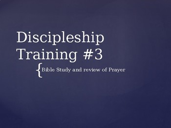Discipleship Training part 3