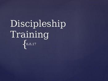 Discipleship training part 2