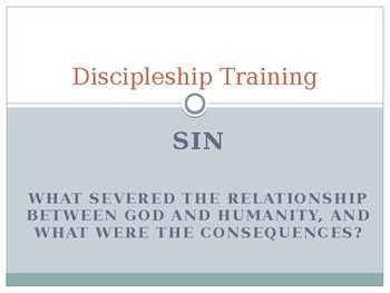 Discipleship training part 7